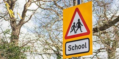 School transport sign